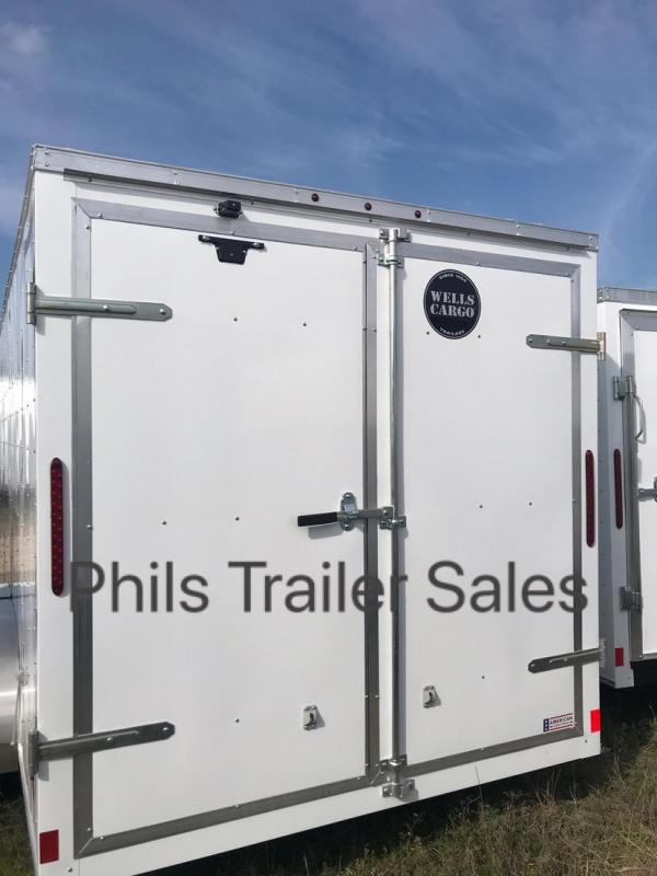 "Wells Cargo 7x16 + v 6"" extra ht  DOUBLE DOOR Enclosed trailer Fast Track Cargo / Enclosed Trailer"