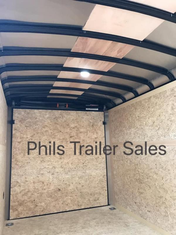 2019 HAULMARK  7X16 + V 7 FT UTV PACKAGE interior COMMERCIAL GRADE TRANSPORT Enclosed Cargo Trailer