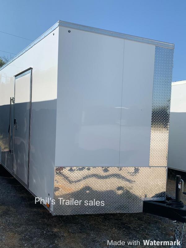 8.5X24 Pace American  7 FT 5200 LB Slant Nose Enclosed Cargo Trailer