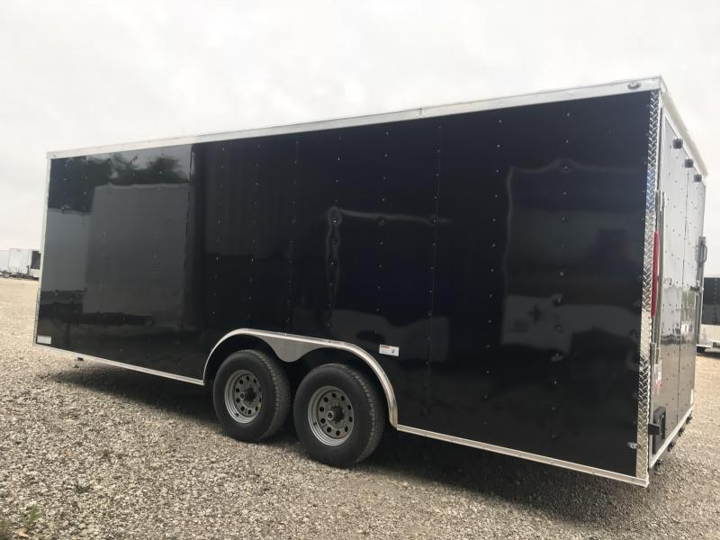 2018 85x20 + 2 v nose 5200 lb axles Car hauler Enclosed Cargo Trailer
