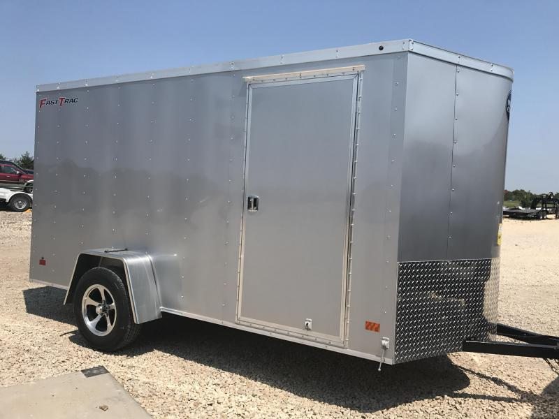 2018 Wells Cargo 6x12+2 v nose aluminum wheels