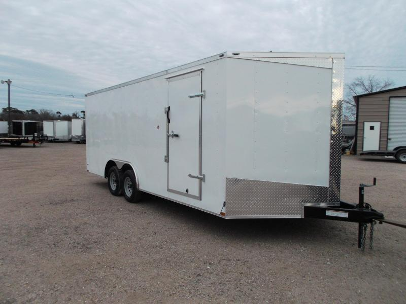 Lark Cargo Trailer 85x20ta v nose Ramp door CarHauler