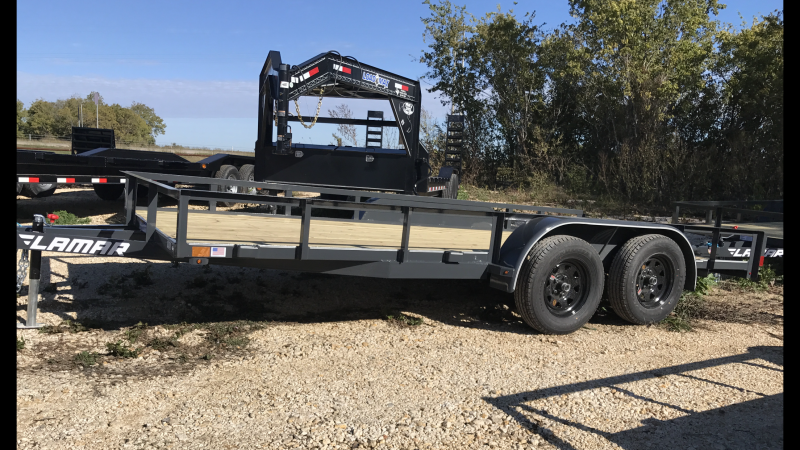 Lamar Trailers 83x16 utility trailer TREATED FLOOR BULL DOG COUPLER Utility Trailer
