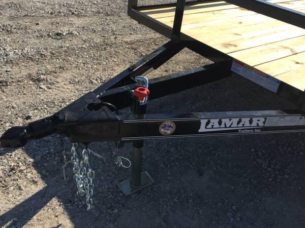 Lamar Trailers 83x16 utility trailer TREATED FLOOR BULL DOG COUPLER Utility Trailer