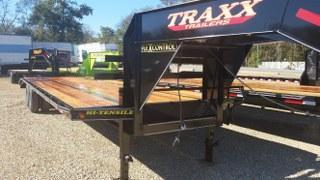 "2017 Traxx 102"" x 30' Low Pro Gooseneck Tandem Dual Flatbed Trailer"
