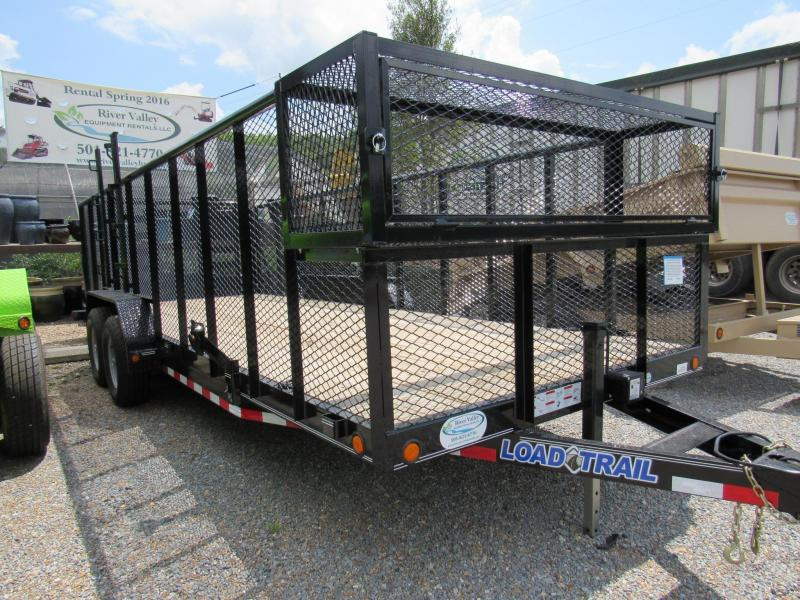 "2017 Load Trail 83""x20' Landscape Trailer w/4' Side Rails"