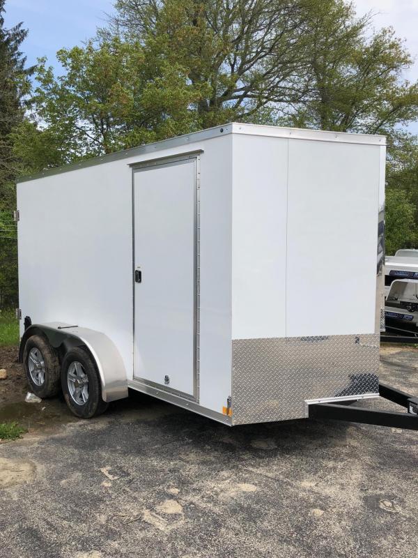 2018 Haulmark HMVG712T Enclosed Cargo Trailer w/ BARN DOORS - WHITE