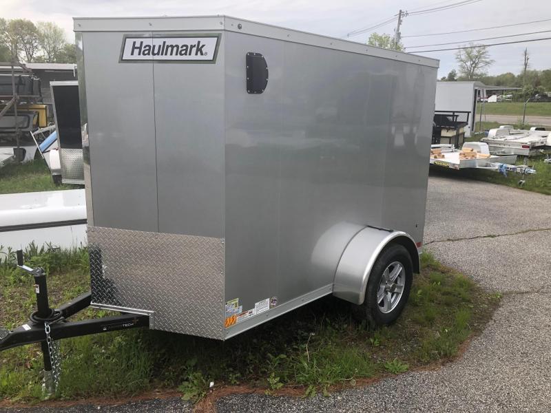 2018 Haulmark HMVG58S Enclosed Cargo Trailer w/ RAMP - SILVER