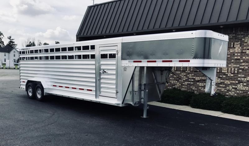 2020 Featherlite 7' x 24'  Livestock Trailer