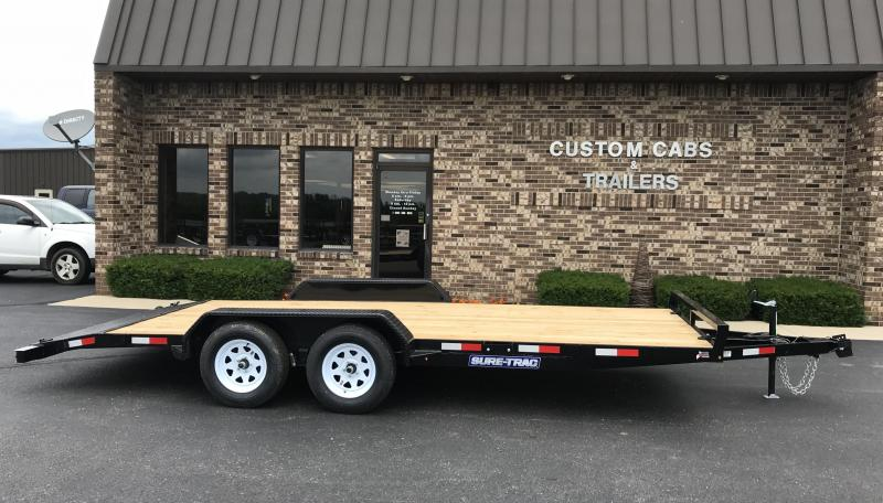 2020 Sure-Trac 7' X 18'  Wood Deck Car Hauler  7k