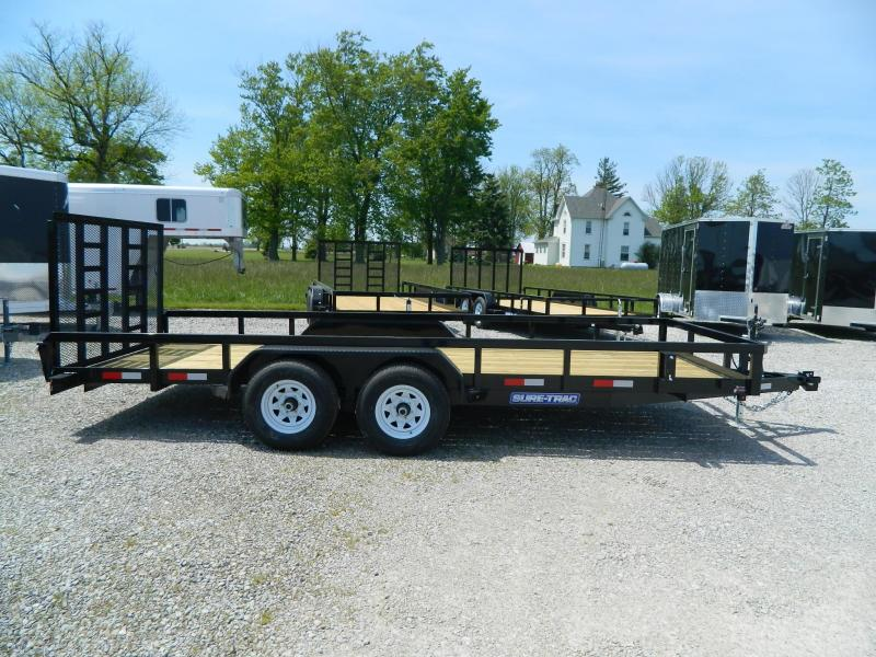 2019 Sure-Trac 7 X 18 Tube Top Flatbed 10K Tandem