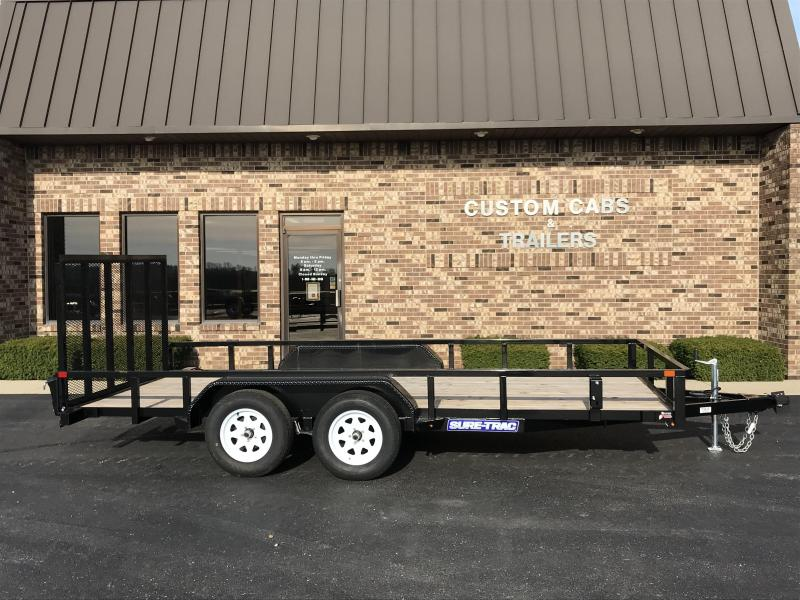 2019 Sure-Trac 7' X 16'  Tube Top 7K Tandem Flatbed