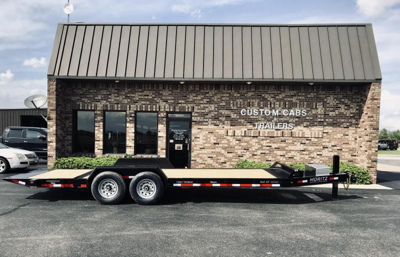 2019 Moritz International  16' + 6'  7K Hyd Tail Flatbed Trailer