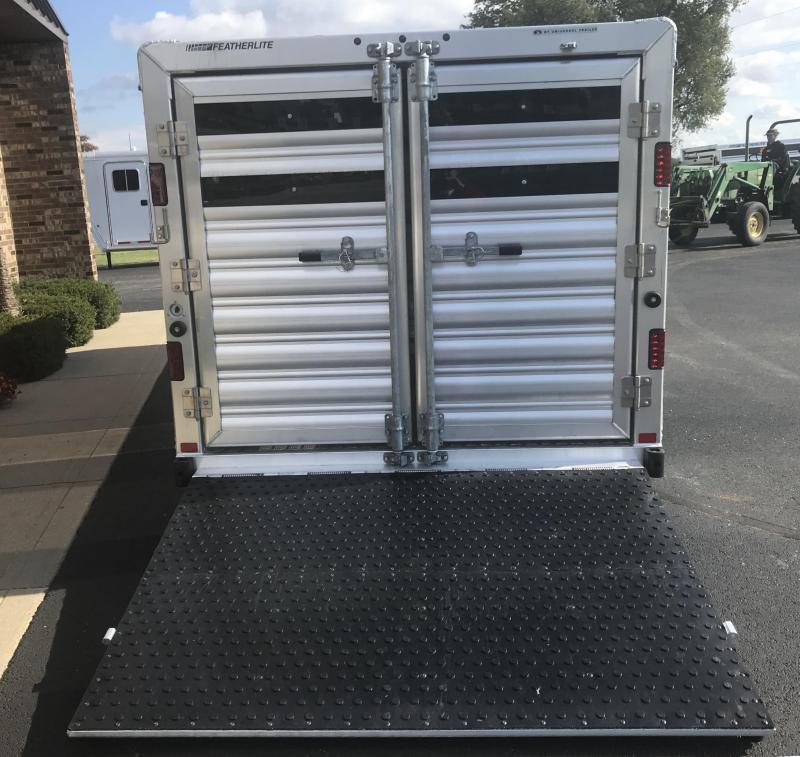"""2019 Featherlite 8107 Lo Pro 6'7"""" x 18'  Livestock Trailer"""