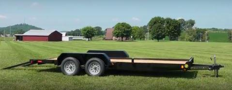 "2019 82"" x 18' GATOR MADE LOW BOY - ATV - CAR HAULER TRAILER"