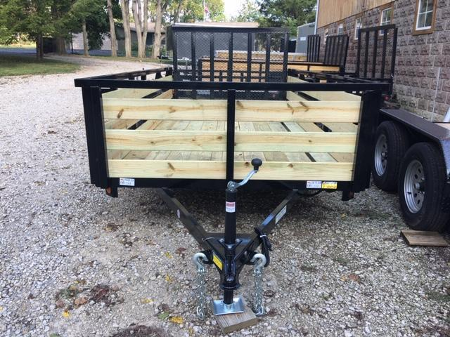 "2020 Quality Steel and Aluminum QSA UTILITY SINGLE AXLE 74"" X 12' HIGH SIDES Utility Trailer"