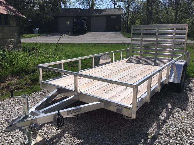 "2018 QUALITY STEEL PRODUCTS 80"" X 14' UTILITY / LANDSCAPE / ATV TRAILER"