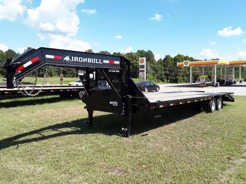 "2018 Iron Bull GOOSENECK LOW PRO 102"" X 30' W/ 2-10K AXLES Flatbed Trailer"