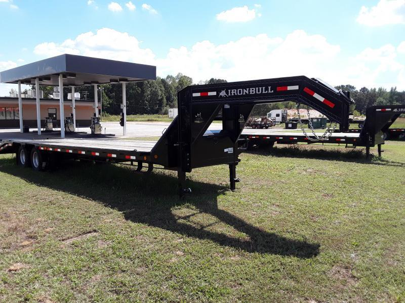 "2018 Iron Bull GOOSENECK LOW PRO Flatbed Trailer 102"" X 30' W/ 2-10K AXLES"