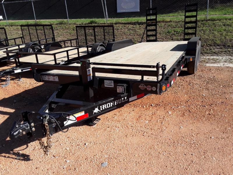 "2019 Iron Bull 83"" X 20' Equipment Trailer W 2 7k Axles"