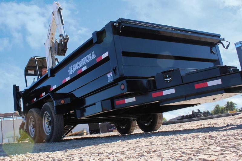 "Iron Bull Dump Trailer 83"" x 14' W/ 2-7k Axles"