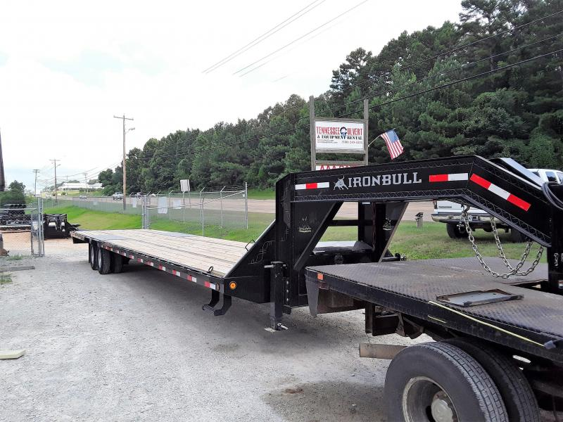 2018 Iron Bull GOOSENECK LOW PRO 102 X 40 2-12K AXLES Flatbed Trailer