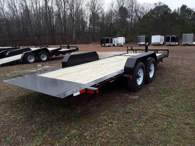 2019 PJ Trailers 20' Tilt Equipment Trailer W 2 8000 Lb Oil Bath Dexter Axles