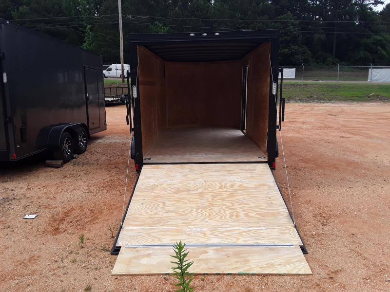 2019 Rock Solid Cargo 7' X 14' Enclosed Cargo Trailer W Black Out Package