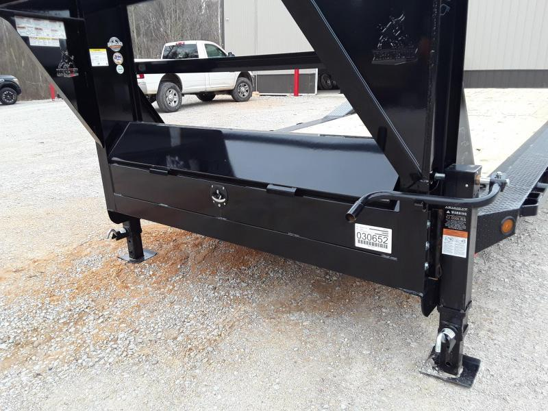 "2019 Iron Bull 102""x26' Equipment Gooseneck  W 2 7000 lb axles and slide in ramps"