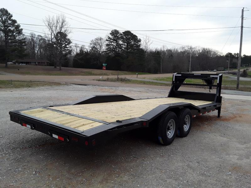"2019 Iron Bull 102""x26' Equipment Gooseneck  W 2 7000 lb axles and slide in ramps"