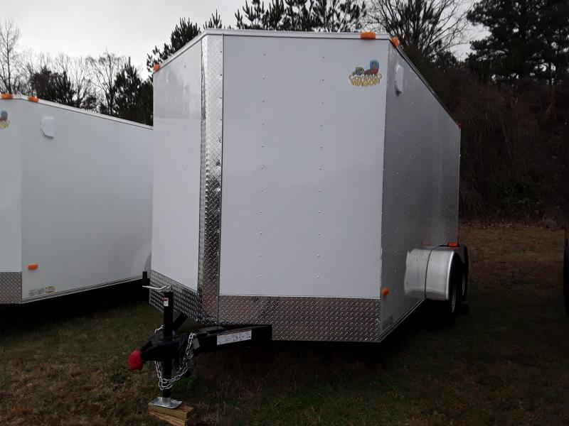 2019 Covered Wagon Trailers 7X14 TA Enclosed Cargo Trailer W Cargo Doors