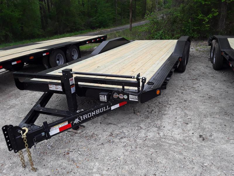 "2019 Iron Bull 102"" X 22' Equipment Trailer W 2-7000LB Axles & Slide out ramps"