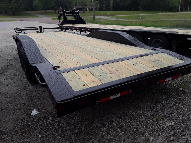 "2019 Iron Bull 102"" X 22' Equipment Trailer W 2-7000LB Axles & Slide out ramps"