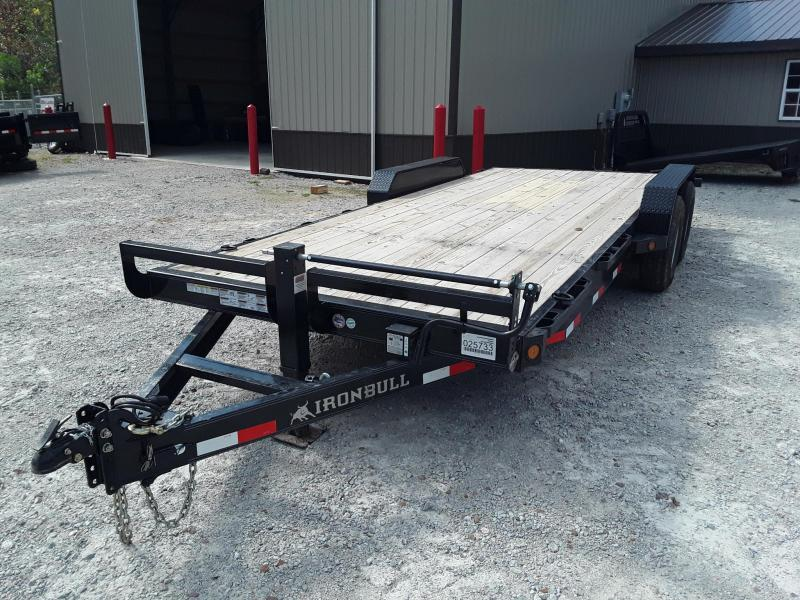 "2018 Iron Bull 83"" X 20' Equipment Trailer W/ 2 7000 LB Axles and Slide in Ramps in Sherman, MS"