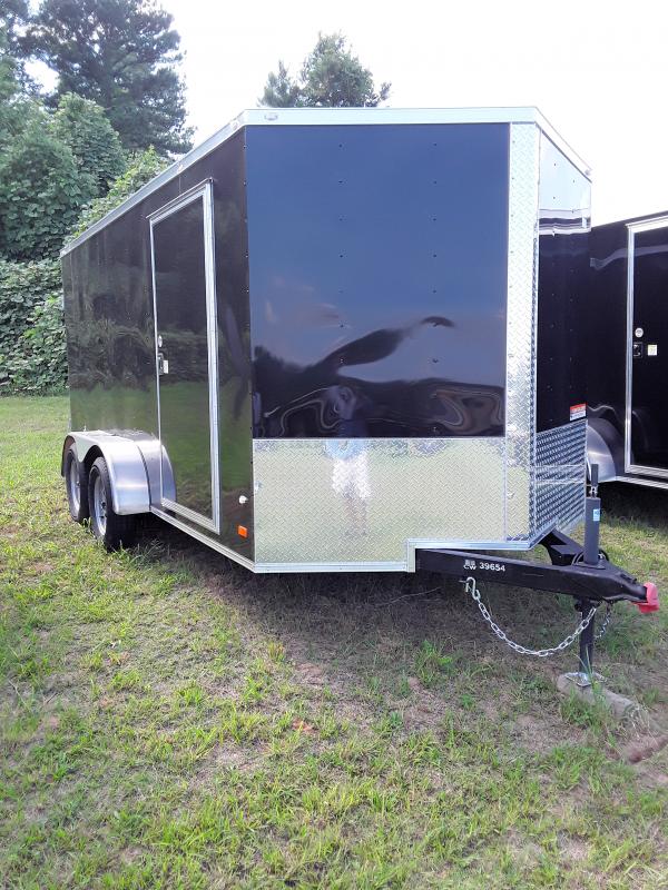 2019 Covered Wagon 7' x 14' Tandem Axles W/2-3500lb Axles Black