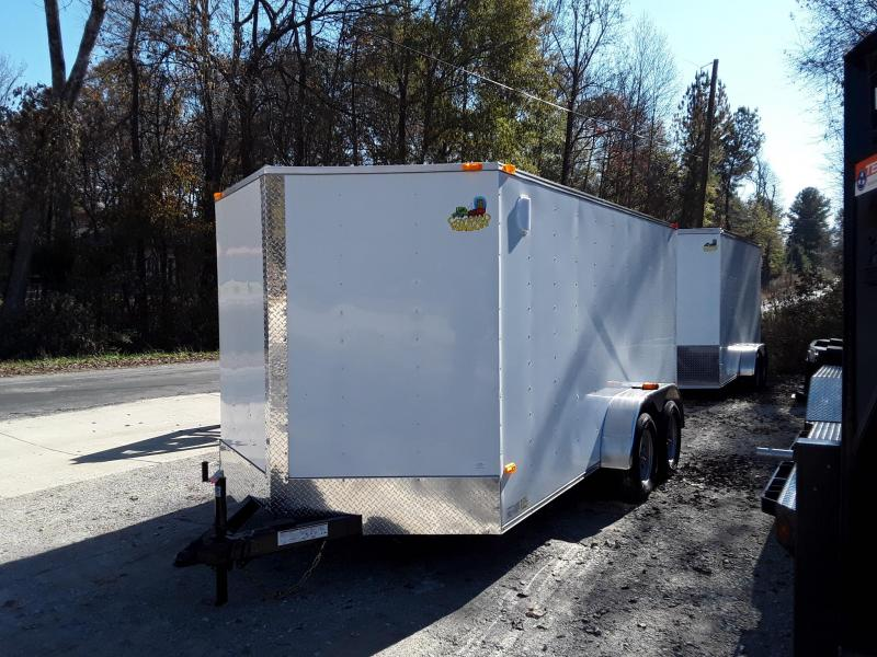 2019 Covered Wagon Trailers 7X14TA-Gold V Nose Enclosed Cargo Trailer in Ashburn, VA