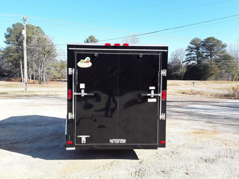 2019 Covered Wagon Trailers 6' X 12' SA Silver Enclosed Cargo Trailer
