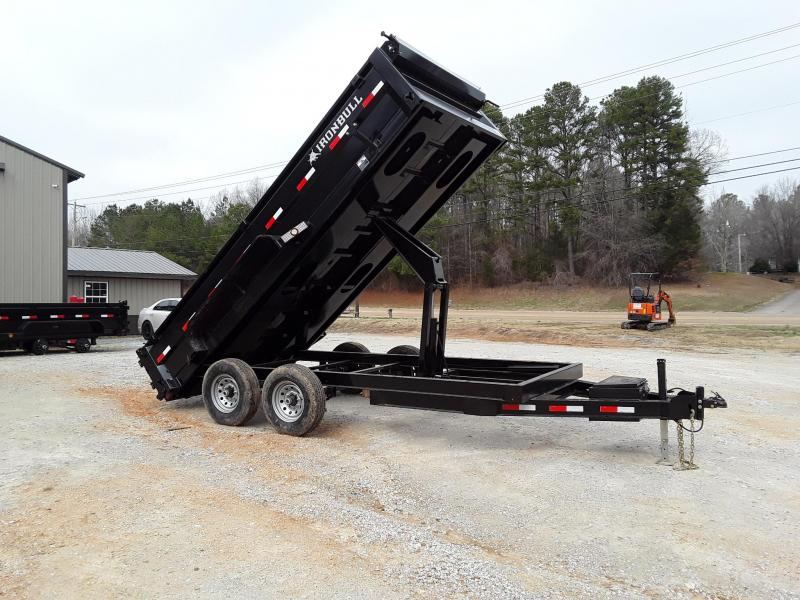 "Iron Bull Dump Trailer 83"" x 14' W/ 2-7k Axles"