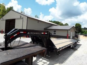 2018 Iron Bull FLAT DECK LOW PRO W/HYDRAULIC DOVE 102 X 32 2-12K Equipment Trailer