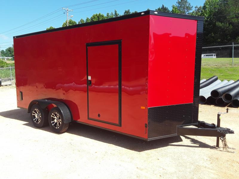 2019 Rock Solid  7' X 16'  Enclosed Trailer W Blackout Package