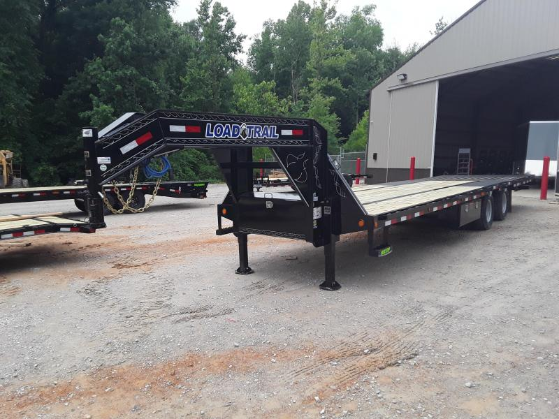 "2019 Load Trail 102"" X 32'  Low-pro Gooseneck Flatbed W 2 12k axles - Hydraulic ""Black Wood"" high traction dove and Hydraulic Jacks"
