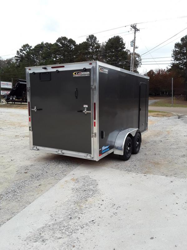 2019 Legend Trailers Thunder V Nose Cargo Enclosed Trailer 7'X16' W 2 3500 Lb Axles