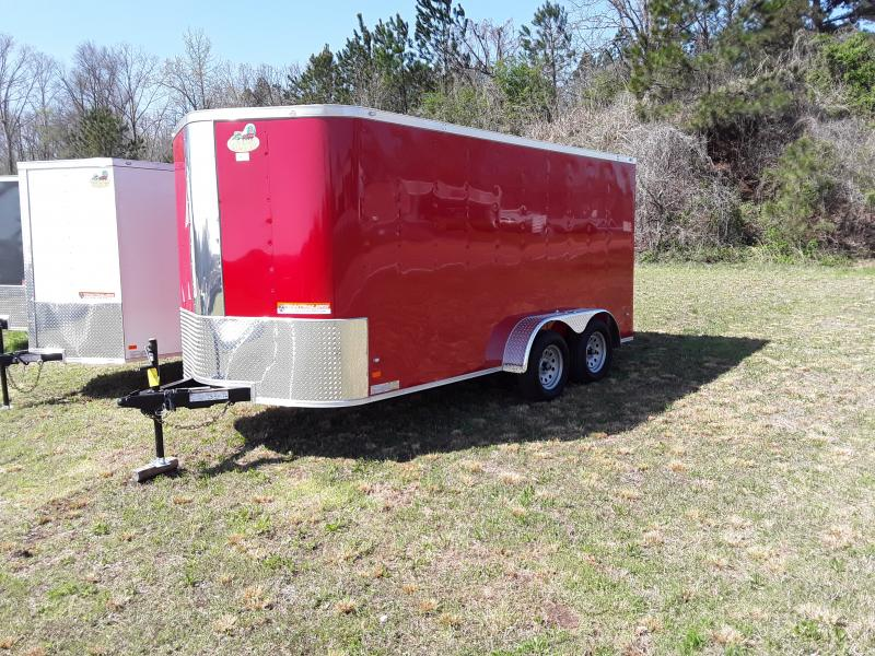 7' x 14' Enclosed Trailer Red