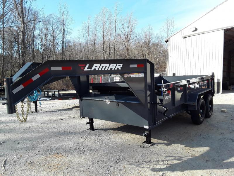 "2019 Lamar Trailers 83"" X 14' Gooseneck Dump Trailer W/ 2 7000 Lb Axles in Ashburn, VA"