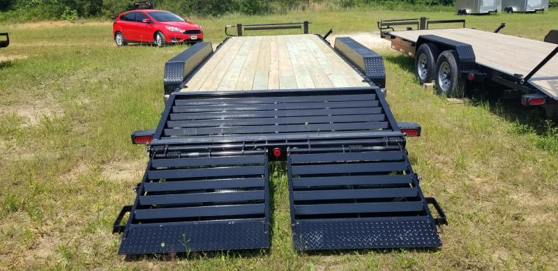 """2019 Iron Bull 83"""" X 24' Equipment Trailer W 3 7000 Lb axles and Rampage ramps"""