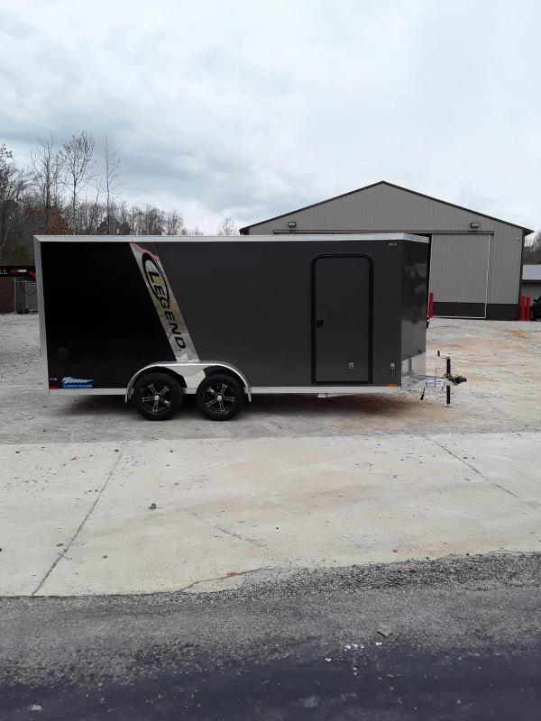 2019 Legend Trailers Thunder V Nose Cargo Enclosed Cargo Trailer 7' X 18' W 2 3500 Lb Axles in Ashburn, VA