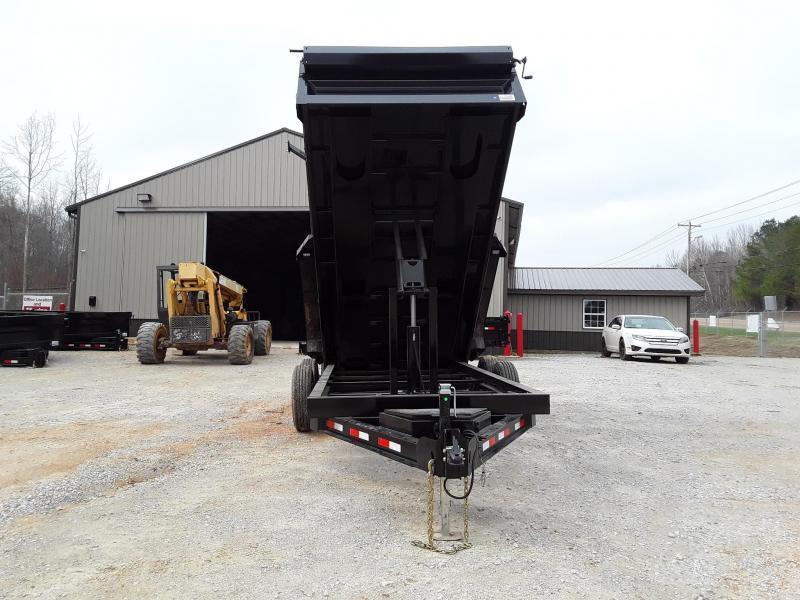 "Iron Bull Dump Trailer 83"" X 14' W 2 7000 Lb Axles"