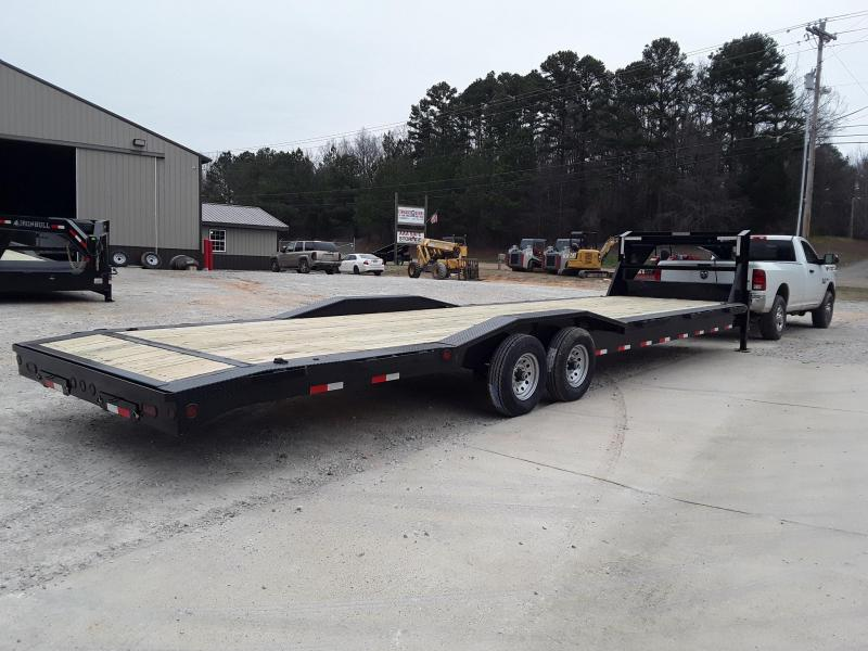 "2019 Iron Bull GOOSENECK EQUIPMENT 10"" CH FRAME 102"" X 32' 2-7000 LB AXLES Flatbed Trailer"