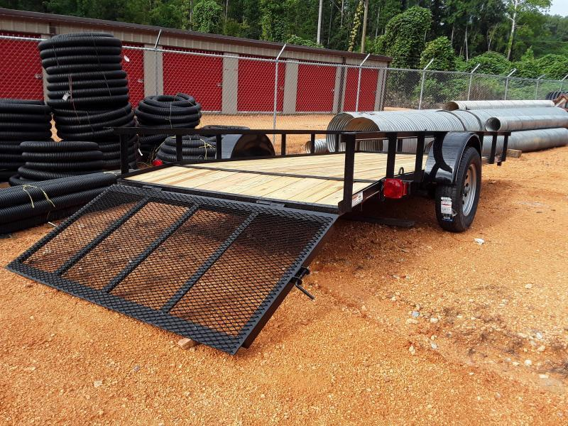 2019 O Neal 6 4 X 14 With 2' Dove and 3' Gate Utility Trailer