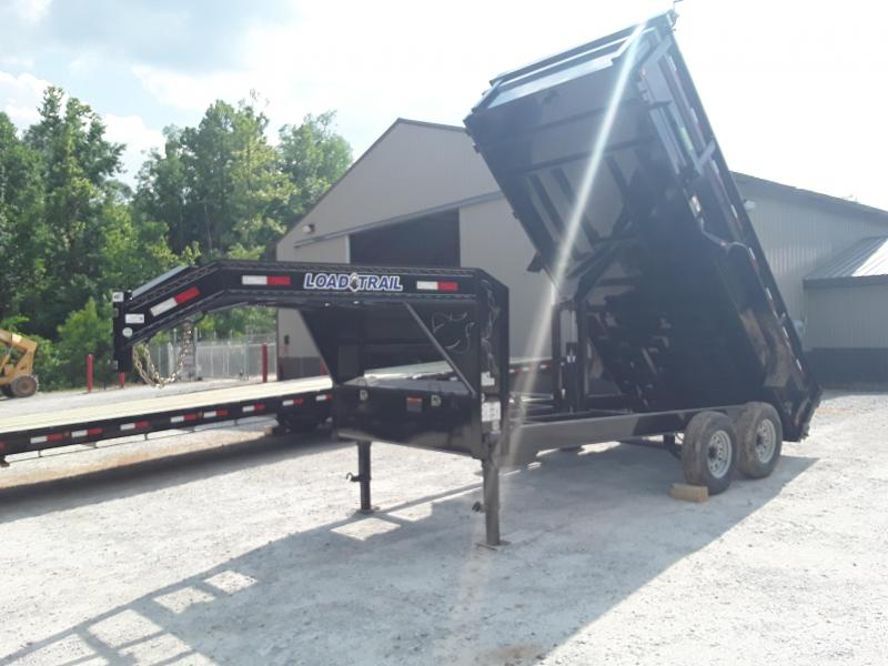 "2019 Load Trail 83"" X 14' Gooseneck Dump Trailer W 2 7000 Lb Axles"